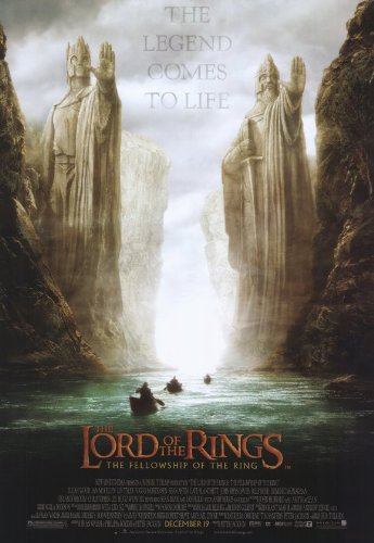 Poster Movie Of Fellowship Ring The - Lord of the Rings 1: The Fellowship of the Ring - Movie Poster - 11 x 17