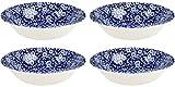 Burleigh Blue Calico Soup Bowls 8'' (Set of 4)