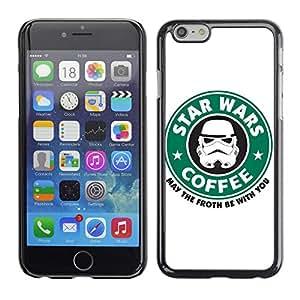 CASECO Star Wars Coffee Apple Iphone 6 - - Prima Delgada SLIM Casa Carcasa Funda Case Bandera Cover Armor Shell PC / Aliminium