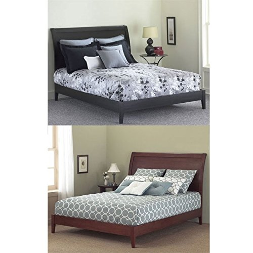 Fashion Bed Group Java Platform Bed with Wood Frame and Sleigh Headboard, Black Finish, ()