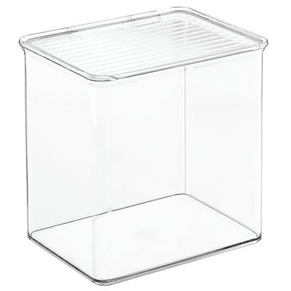 InterDesign Kitchen, Pantry, Refrigerator, Freezer Storage Container With  Hinged Lid, 3