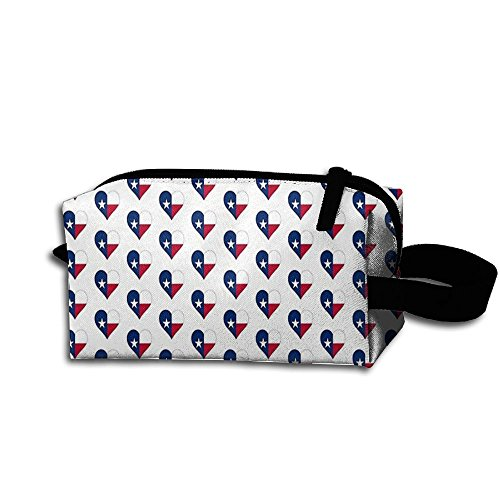 NUNOFOG I Love Texas Womenâ€s Travel Cosmetic Bags Small Makeup Clutch Pouch Cosmetic And Toiletries Organizer - Texas Victoria Shopping