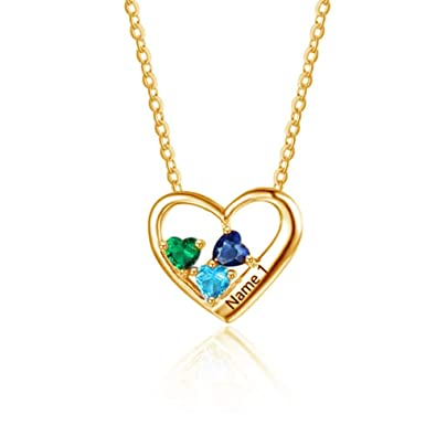 DXYAN Gifts for Women Sterling Silver 925 Necklace Costume Letter Name Necklaces Heart Pendant Love Chain Family Jewelery Mother