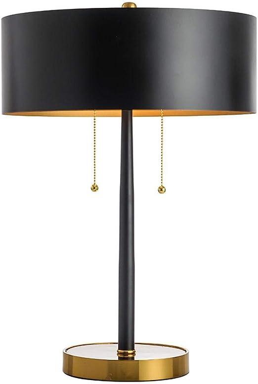 Lámpara De Mesa Moderno Minimalista Negro Dormitorio Cama Modelo ...