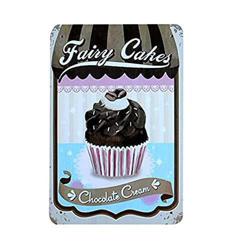 Colorful Sweets Cookies 12 Vintage Metall Zinn Poster Garage ...