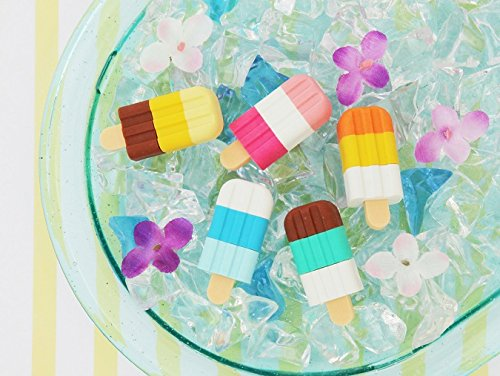 Collectable Eraser - Iwako Ice Bar Popsicle Japanese Collectable Puzzle Erasers (5PC Set)