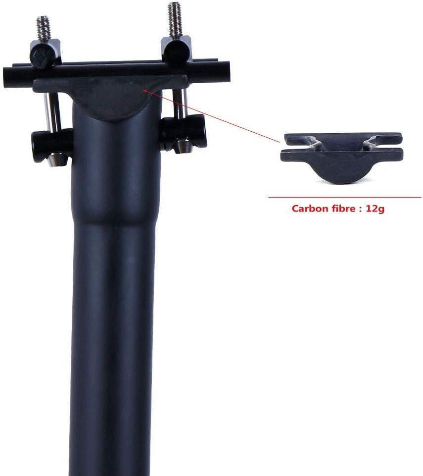 QIKU Tija de sill/ín Carbon para Bicicleta 、Negro 3K//UD Mate Di/ámetro 27.2 31.6