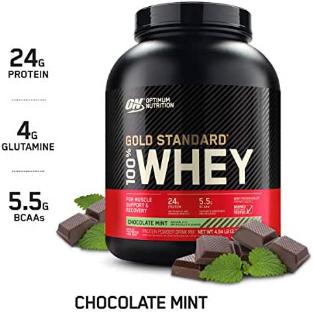 OPTIMUM NUTRITION GOLD STANDARD 100% Whey Protein Powder, Chocolate Mint, 5 Pound (Package May Vary)
