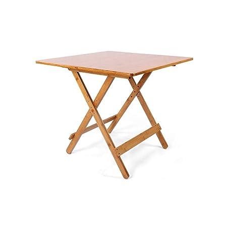 mesa plegable Pequeña Bambú, Mesa De Comedor para 4 Personas Mesa ...