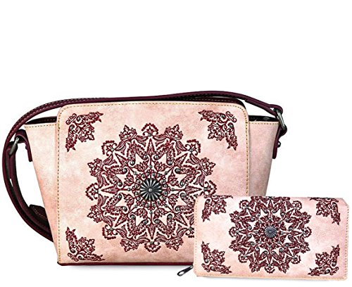 Wallet Boho West Mandala Concealed Montana Carry New Crossbody Embroidered B7q8C4