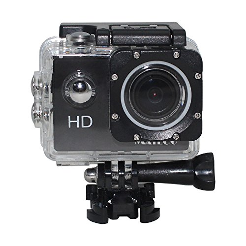 Matego Action Camera Underwater Camera with  1080P Video Resolution 12MP Photo Resolution 2 Inch Screen 150 Degree Wide-angle Lens