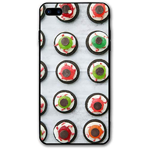 Halloween Eyeball Dessert Personalized Case for iPhone 8 Plus, Shock Absorbing Protective Bumper Case, Birthday