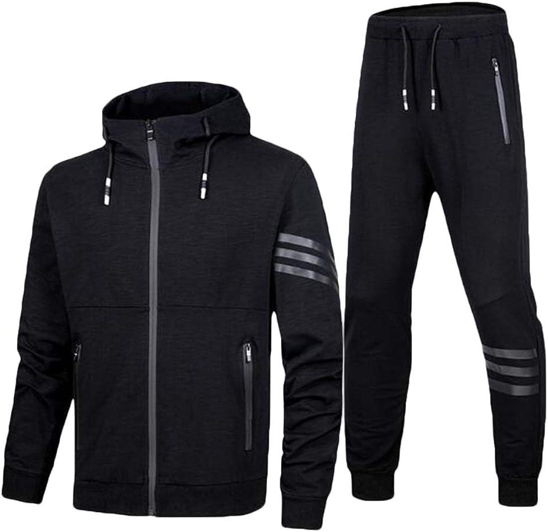 SELX Men Sports Camo Sweatshirt with Jogger Pants Sweat Suit Tracksuit Set