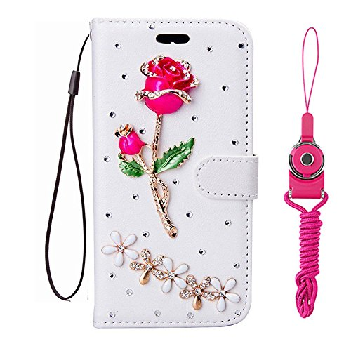 Click to buy Handmade Bling women fashion PU Leather Filo slots Wallet Flip Protective Case skin Cover for Huawei Honor 6X / GR5 (2017) / Mate 9 Lite (Rose) - From only $3708.67