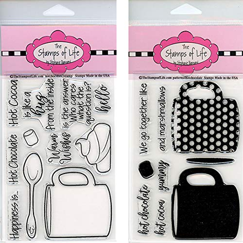 (Hot Chocolate Winter Stamps for Card-Making and Scrapbooking - HotChocolate2Stamp and Patterns4Hot Chocolate Combo Pack by The Stamps of)