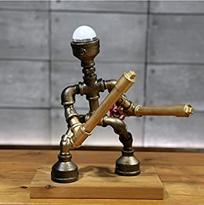 China Palaeowind Creative Industrial Feng Shui Guan Warrior Robotic Lamp Decorative Lamps