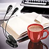 Ordenador Portátil Best Deals - Escritorio clip flexible Brazo doble 8 LED luz del libro de lectura del ordenador portátil del soporte de la lámpara