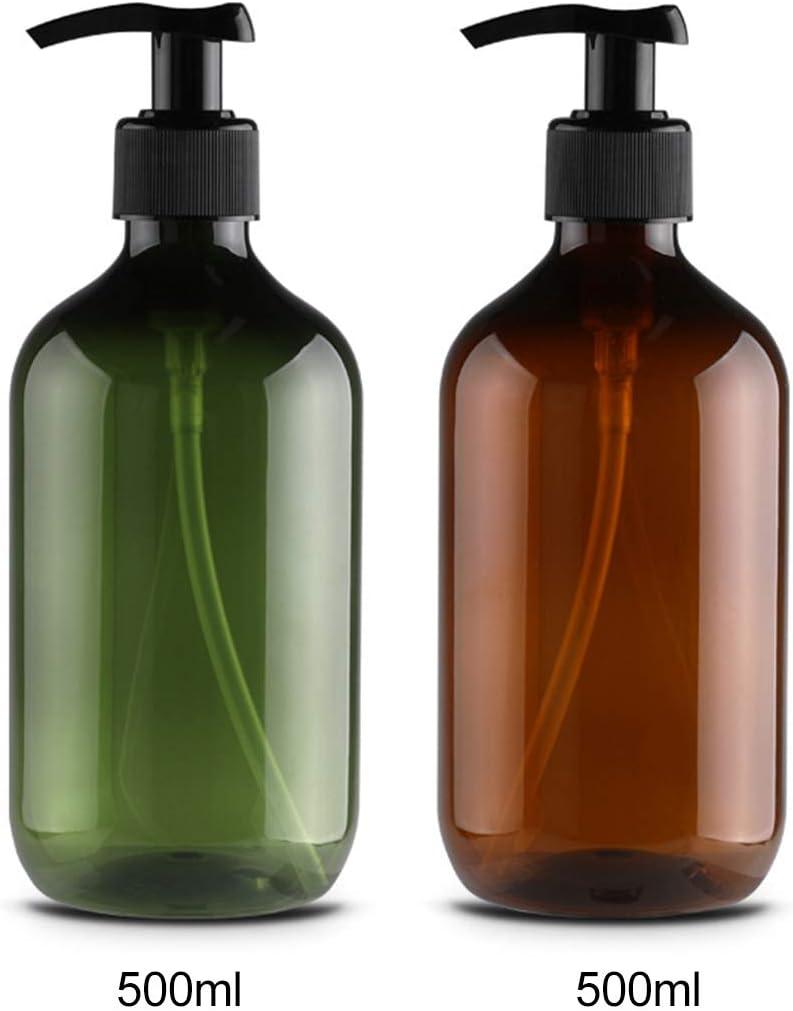 Kitchnexus Classic 4PCS 500ML Grande Bottiglie di Sapone vuote d capacit/à Dispenser/ Accessori per Il Bagno con Pompe per lozione Scuro