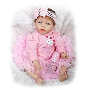 Amazon.com: NPK Poseable Baby Girl Dolls Silicone Reborn