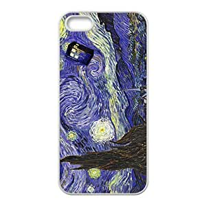 Doctor Starry night painting Who Cell Phone Case for iPhone 5S
