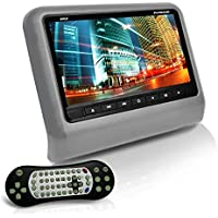 Pyle PLD93GR Headrest Vehicle 9-Inch Video Display Monitor CD/DVD Player USB/SD Readers HDMI Port