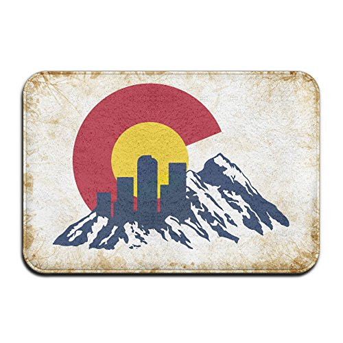 JFD Flag Of Colorado Rocky And Skyline Non-Skid Home Mat - Zoe Home Saldana