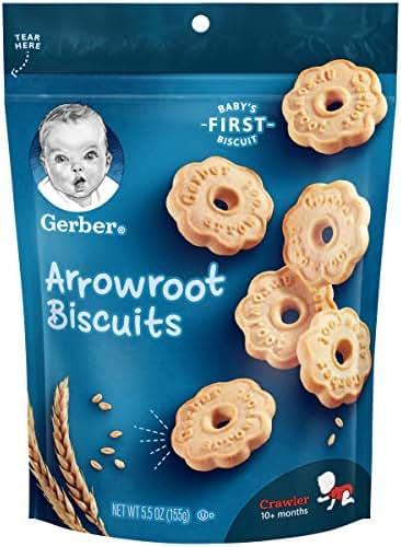 Baby & Toddler Snacks: Gerber Arrowroot Biscuits