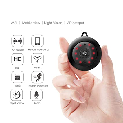 Amazon.com: Konnison-1 - Mini WiFi inalámbrico de visión ...
