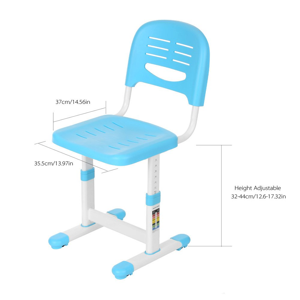 u Neigungsverstellbar iKayaa Kinderschreibtisch Sch/ülerschreibtisch Schreibtisch mit Stuhl H/öhen