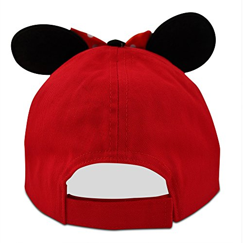 Disney Little Girls Minnie Mouse Character Cotton Baseball Cap, Age 2-7 (Little Girls - Age 4-7 - 53CM, Red) by Disney (Image #6)