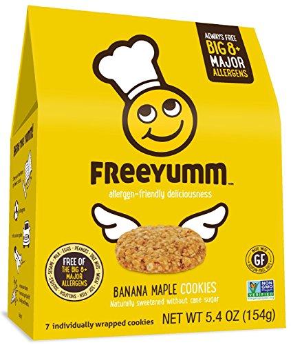Allergen Free Banana Maple Cookies, Safe for School Allergy Free Snack Food for Kids, 21 Total Cookies