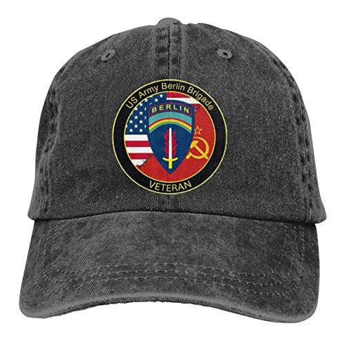 - US Army Berlin Brigade Veteran Denim Dad Hats Adjustable Baseball Cap