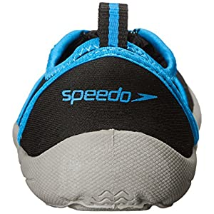 Speedo Women's Zipwalker 4.0 Water Shoe, Black/Turquoise, 8 M US