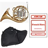Band Directors Choice Double French Horn Key of F/Bb - A Tune A Day French Horn Pack; Includes Intermediate French Horn, Case, Accessories & A Tune A Day French Horn Book