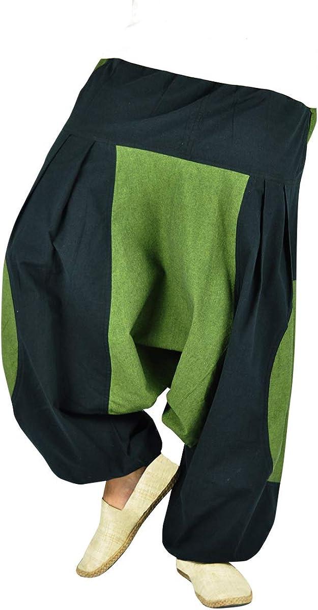 virblatt Pantaloni tasconi Laterali Punk Rave Pantaloni Goa Hippie Harem Pants Ragazza Elemente