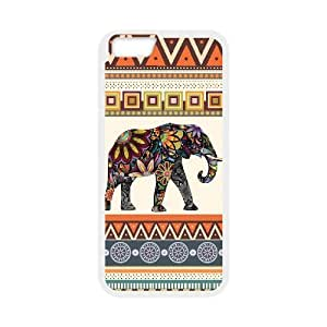 "Customized Durable Hard Case Cover for iPhone6 4.7"" - Elephant Aztec Case Cover"