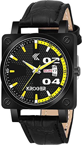 KROGER Analogue Black Dial Boy's & Men's Watch KRG1147
