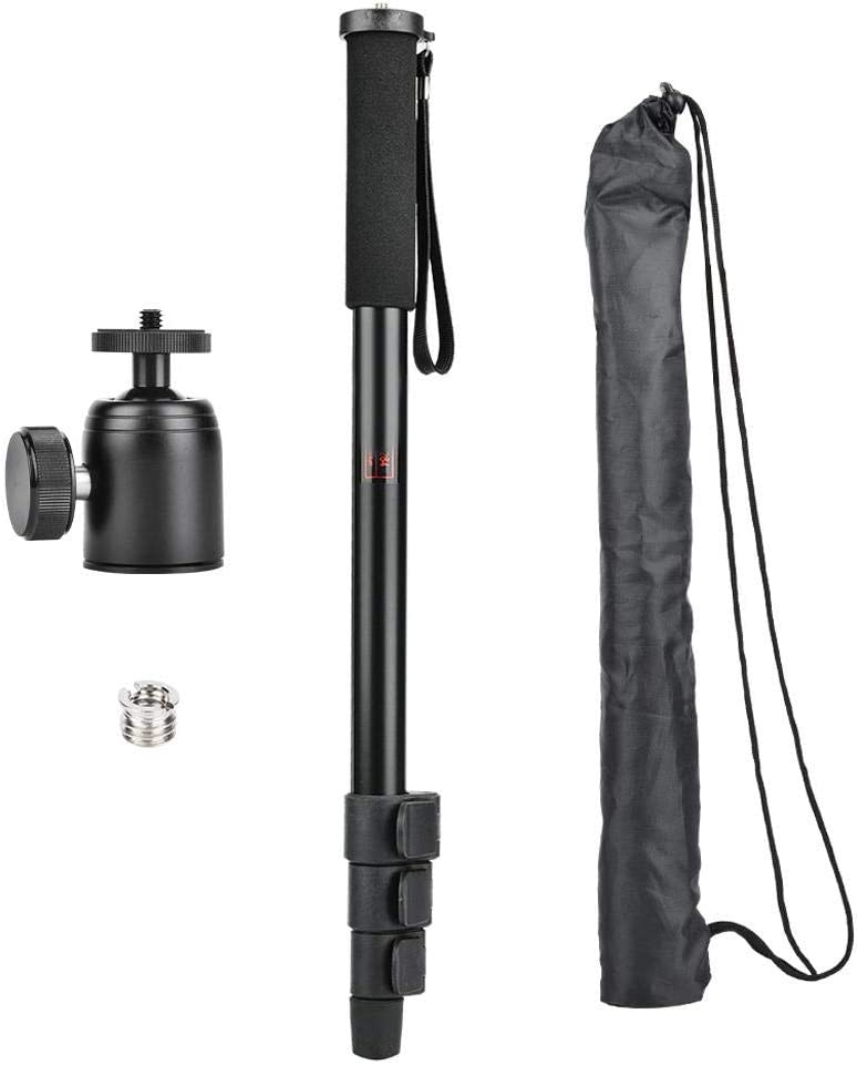 P264+K26 Vbestlife Camera Monopod,Portable Travel DSLR Monopod with 4 Sections for Camera Photograph Accessory.