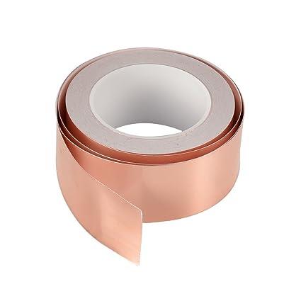 Cinta adhesiva de cobre Cymax con doble cara conductiva-emisión,blindaje, vidrio tintado