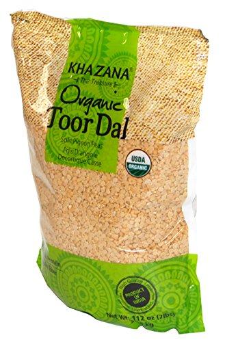 Khazana Organic Toor Dal Split Pigeon Peas 112oz/7lbs by Heritage Imports