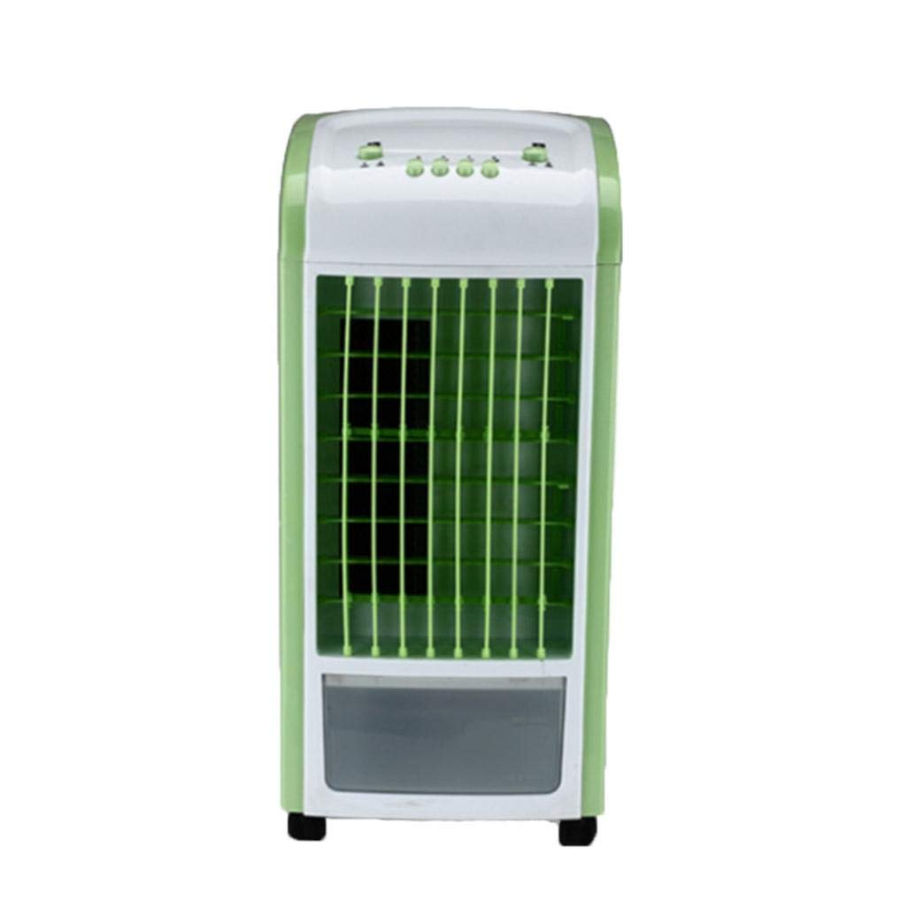 Transer Air Conditioning Fan, Portable Bladeless Mini Mechanical Air Conditioner Fan Humidifier (Green)