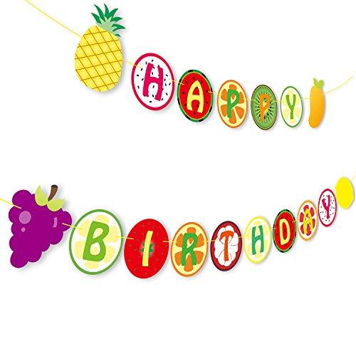 Yaaaaasss! Tutti Frutti Banner Kids Happy 2nd Birthday