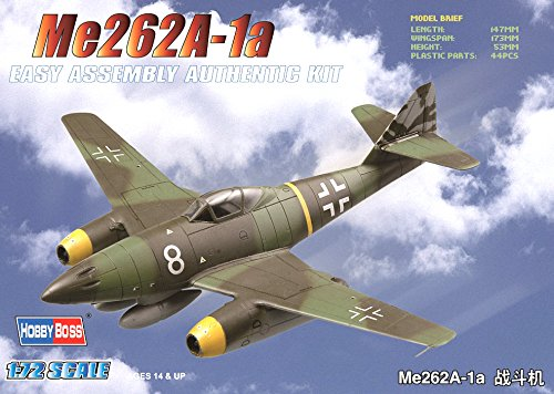 Hobby Boss Me 262A-1a Easy Assembly Kit Airplane Model Building - Model Assembly Easy Kit