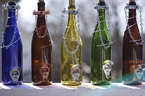 Glass Wine Bottle Bird Feeder - Bird Houses - Gift for Mom - Outdoor -...