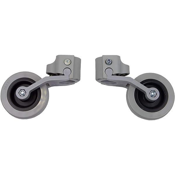 Kit de ruedas traseras para andador (adaptable a tubos de 22 ...