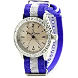 Toywatch Vintage Lady VI09SL Stainless Steel Blue Women Watch