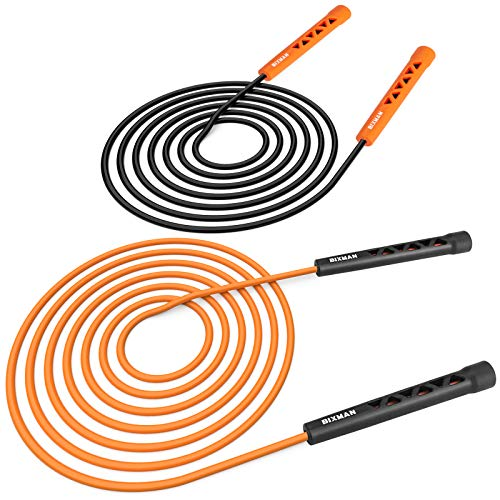 BIXMAN Jump Ropes for Fitness – 2-Pack Jump Rope for Skipping Rope – Ultra-Lightweight and Adjustable Length – Portable…
