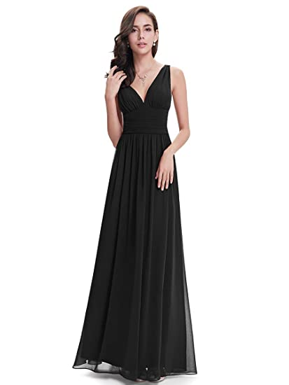 Sleeveless, V-Neck, Semi-Formal, Maxi,Evening Dress