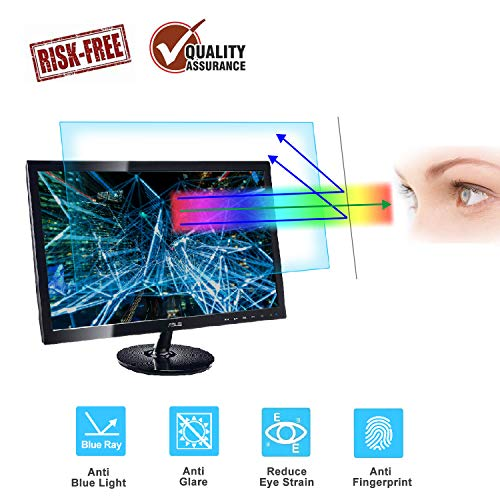24 Monitor Screen Protector -Blue Light Filter, Eye Protection Blue Light Blocking Anti Glare Screen Protector for Diagonal 24
