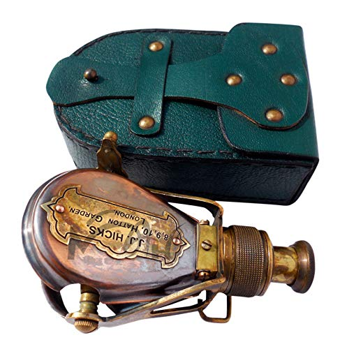 MAH Antique-Style-Ships Pocket- Monocular- Brass Telescope- with-Box. C-3232 ()